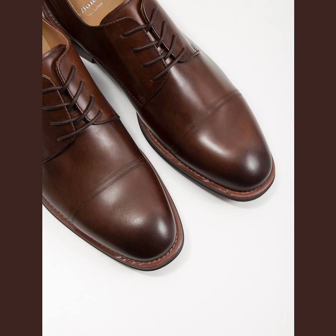 Braune Herrenhalbschuhe aus Leder bata, Braun, 826-4681 - 14