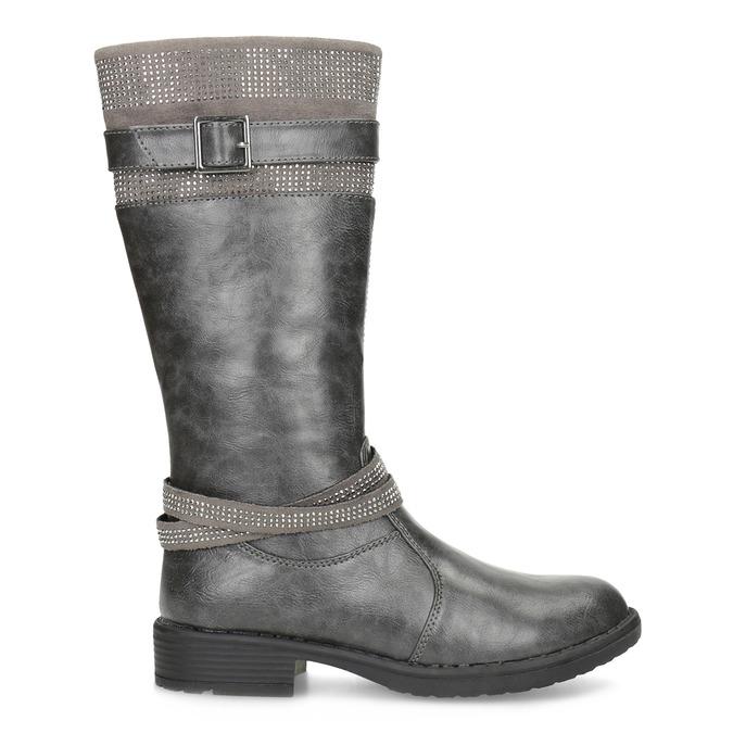 Mädchen-Stiefel mit Steinchen mini-b, Grau, 391-2655 - 19