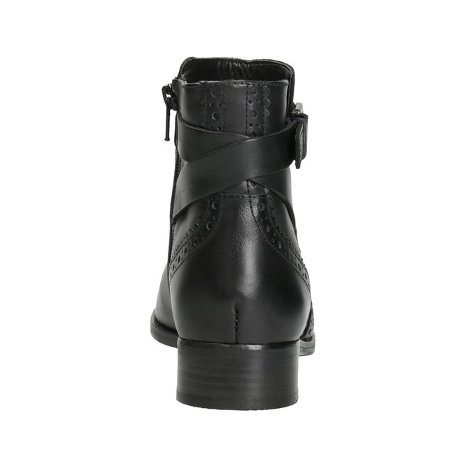 Knöchelschuhe aus Leder mit Verzierung clarks, Schwarz, 614-6027 - 16