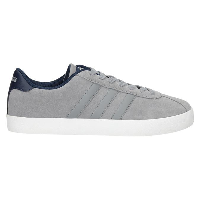 Graue Leder-Sneakers adidas, Grau, 803-7197 - 26