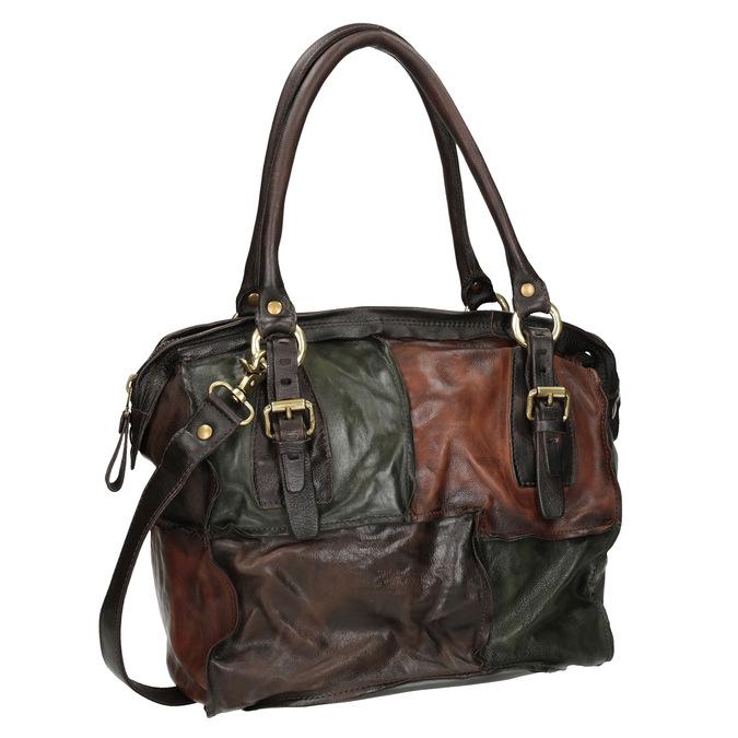 Lederhandtasche im Patchwork-Stil a-s-98, mehrfarbe, 966-0062 - 13