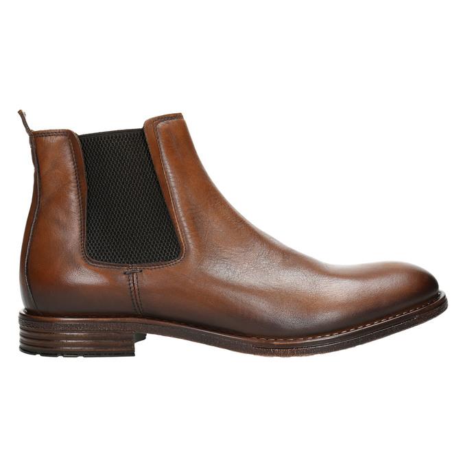 Braune Chelsea Boots aus Leder bata, Braun, 896-3673 - 15