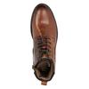 Knöchelschuhe aus Leder bata, Braun, 896-3675 - 15