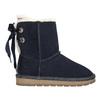 Velours-Stiefel für Kinder bata, Blau, 393-9604 - 15