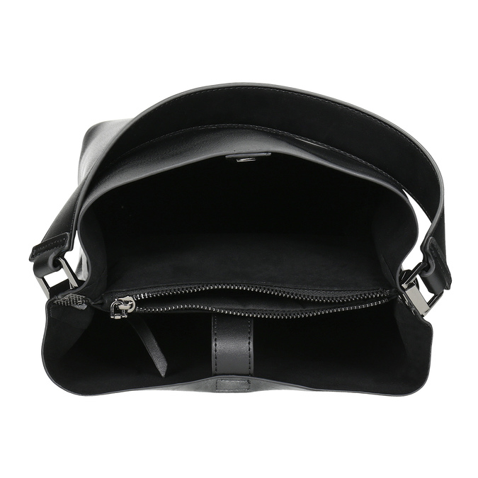 Schwarze Hobo-Damenhandtasche, Schwarz, 961-2173 - 15