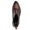Damen-Chelsea-Boots mit Brogue-Verzierung bata, Braun, 596-4683 - 15