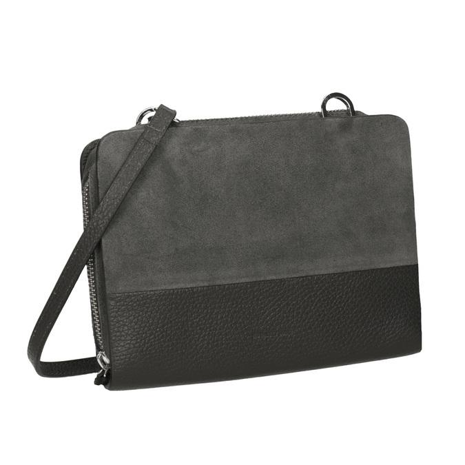 Crossbody-Damenhandtasche aus Leder royal-republiq, Grau, 963-2050 - 13