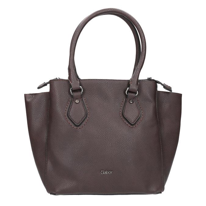 Braune Damenhandtasche mit Gurt gabor-bags, Braun, 961-6039 - 26
