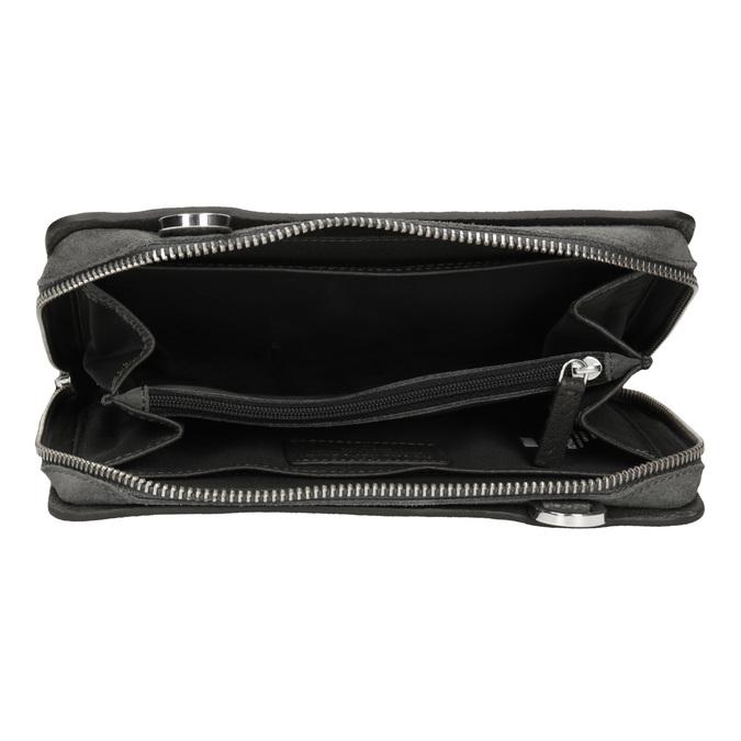 Crossbody-Damenhandtasche aus Leder royal-republiq, Grau, 963-2050 - 15