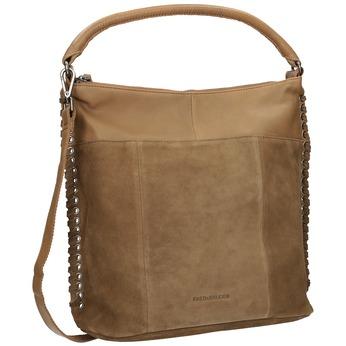 Lederhandtasche in Flechtoptik fredsbruder, Braun, 963-3005 - 13