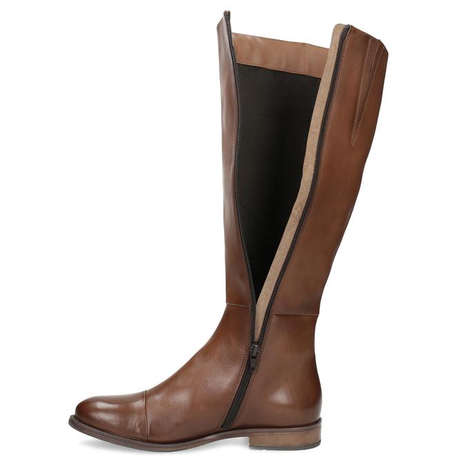 Braune Lederstiefel bata, Braun, 594-4637 - 17