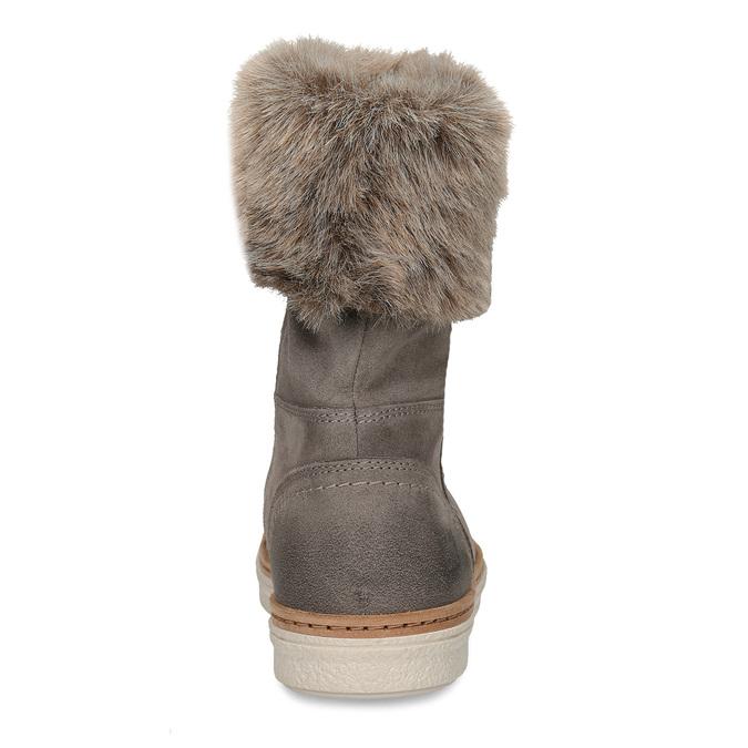 Winterlederschuhe mit Pelz weinbrenner, Grau, 596-2633 - 15
