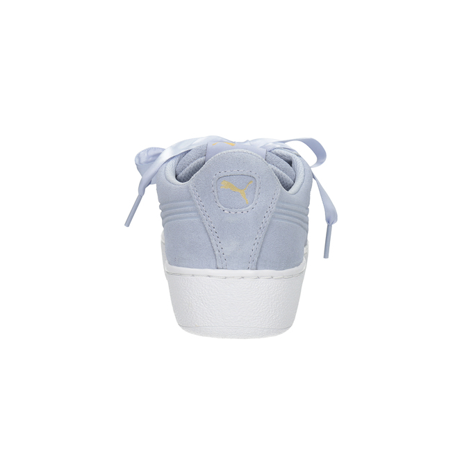 Damen-Sneakers aus Leder puma, Blau, 503-9169 - 16