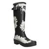 Schwarze Stiefel mit Blumenmuster joules, Schwarz, 502-6043 - 13
