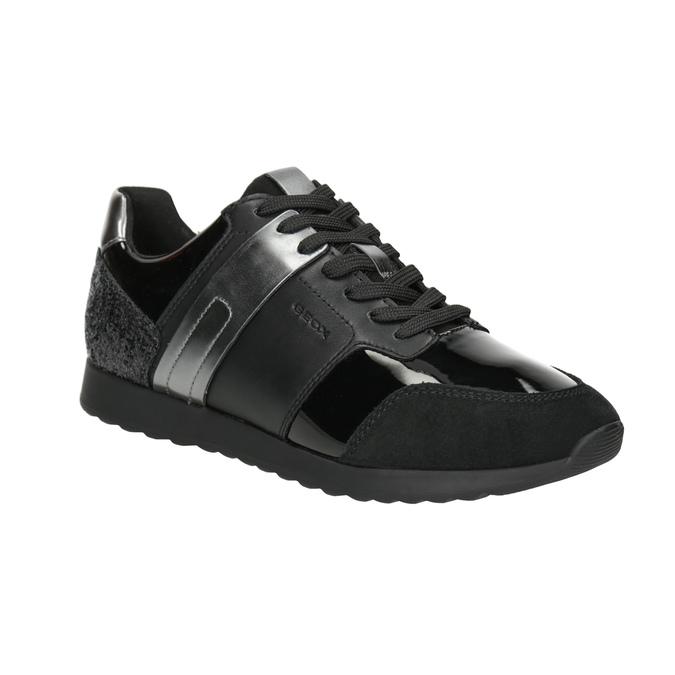 Schwarze Damen-Sneakers geox, Schwarz, 621-6045 - 13