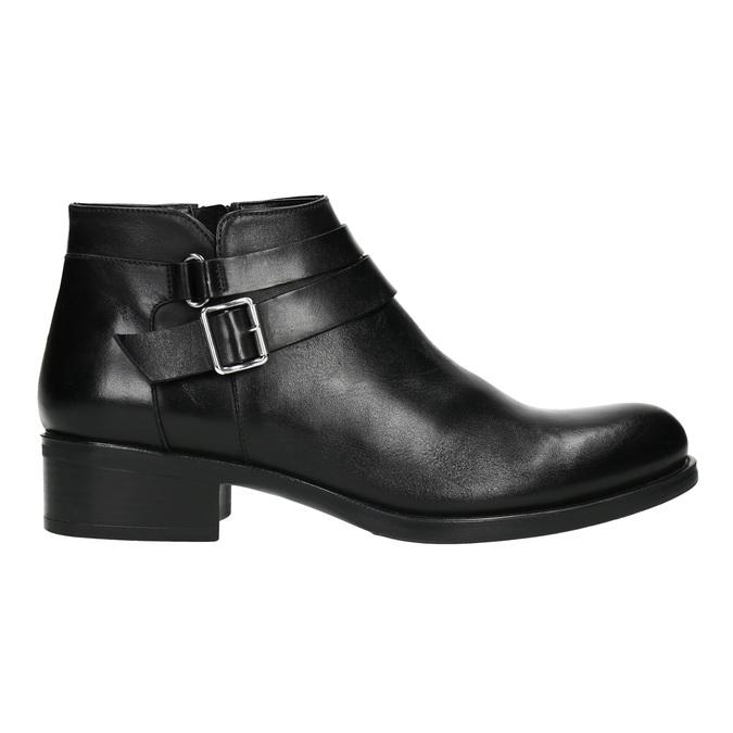 Knöchelschuhe aus Leder mit einer Schnalle bata, Schwarz, 594-6655 - 15