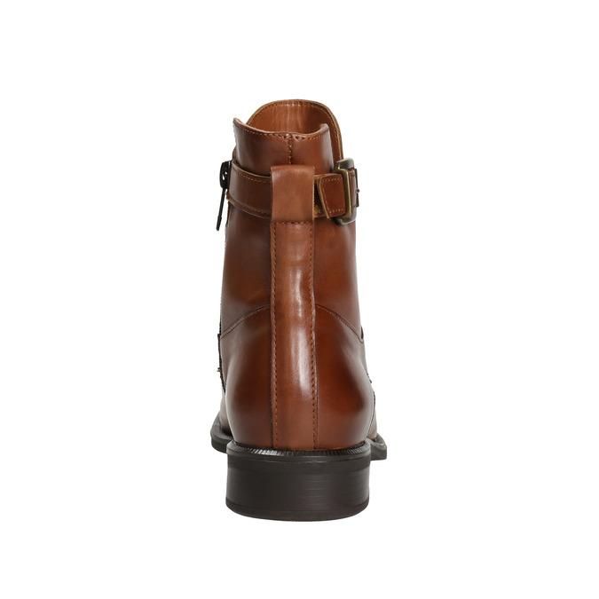Damenstiefel aus Leder bata, Braun, 596-4680 - 16