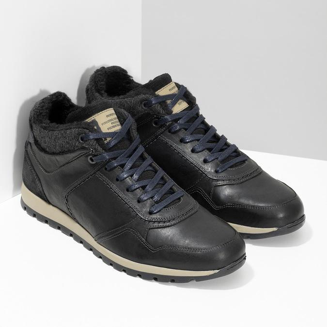 Herren-Winter-Sneakers bata, Schwarz, 846-6646 - 26