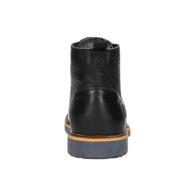 Herren-Knöchelschuhe aus Leder bata, Schwarz, 896-6667 - 17