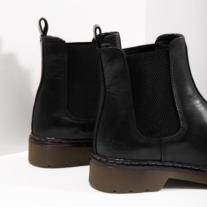 Damen-Chelsea-Boots aus Leder bata, Schwarz, 594-6680 - 14