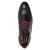 Lederhalbschuhe mit roten Details conhpol, Schwarz, 824-6993 - 15
