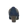 Blaue Lederpumps der Weite H bata, Blau, 623-9600 - 16