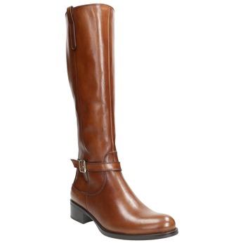 Braune Lederstiefel bata, Braun, 596-4665 - 13