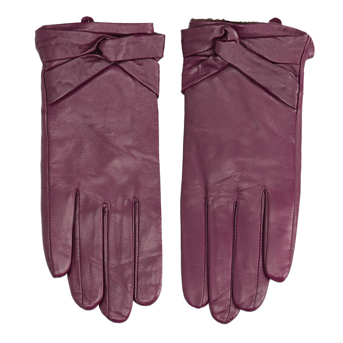 Damenhandschuhe aus Leder bata, Violett, 904-0109 - 26