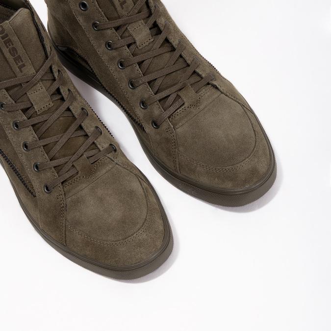 Knöchelhohe Sneakers aus geschliffenem Leder diesel, Braun, 803-4629 - 18