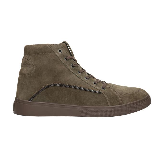 Knöchelhohe Sneakers aus geschliffenem Leder diesel, Braun, 803-4629 - 16
