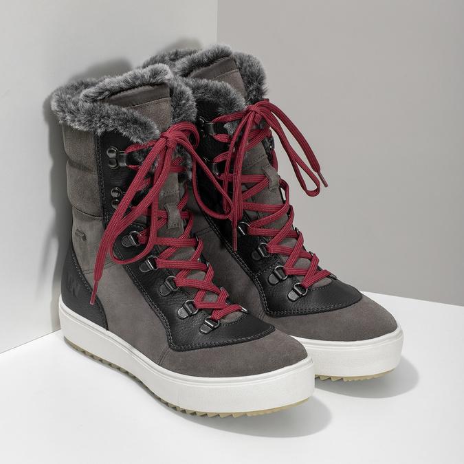 Damen-Schneestiefel aus Leder weinbrenner, Grau, 593-4601 - 26