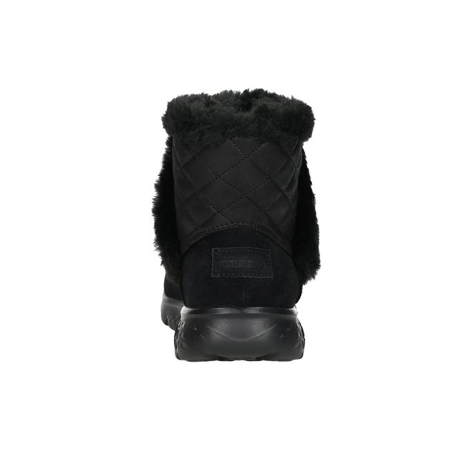 Damenschuhe aus geschliffenem Leder skechers, Schwarz, 503-6326 - 15
