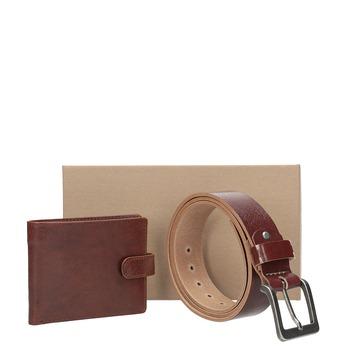 Geschenk-Set Ledergürtel und Geldbörse bata, Braun, 954-3201 - 13