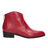 Rote Lederstiefeletten bata, Rot, 594-5665 - 16
