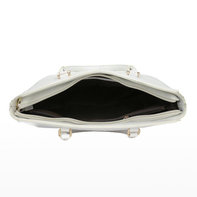 Weiße Damenhandtasche bata, Weiss, 961-1845 - 15