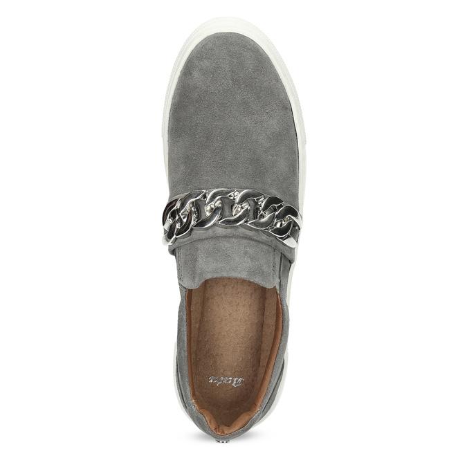 Damen-Slip-Ons mit Metallschnalle bata, Grau, 513-2600 - 17