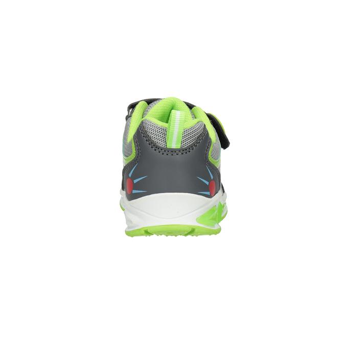 Grüne Kinder-Sneakers mit blinkender Sohle mini-b, Grau, 211-2102 - 16