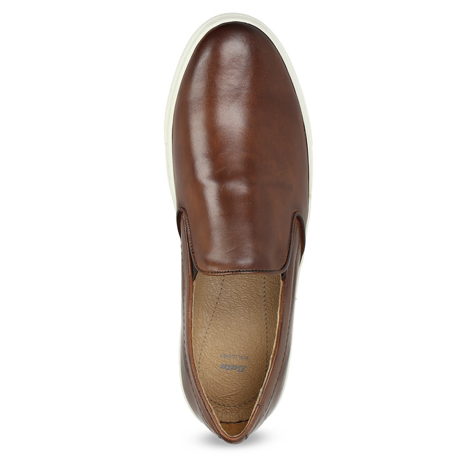 Herren-Slip-Ons aus Leder bata, Braun, 836-4601 - 17