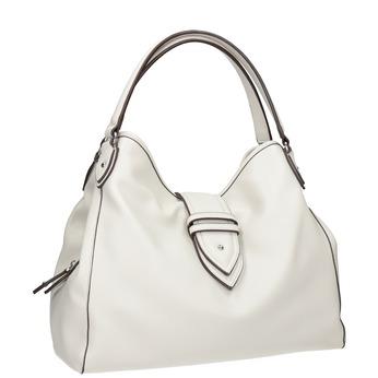 Weiße Handtasche mit Schnalle bata, Weiss, 961-1681 - 13