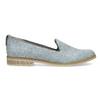Damen-Loafers aus Leder bata, Blau, 519-9605 - 19