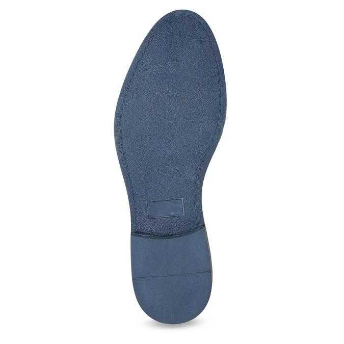 Lederhalbschuhe mit gestreifter Sohle bata, Blau, 823-9600 - 18