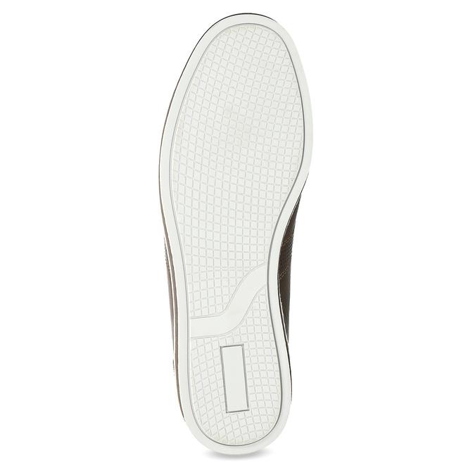 Herren-Leder-Sneakers bata, Braun, 846-4617 - 18