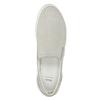 Leder-Slip-Ons mit Perforation bata, Grau, 533-2600 - 15