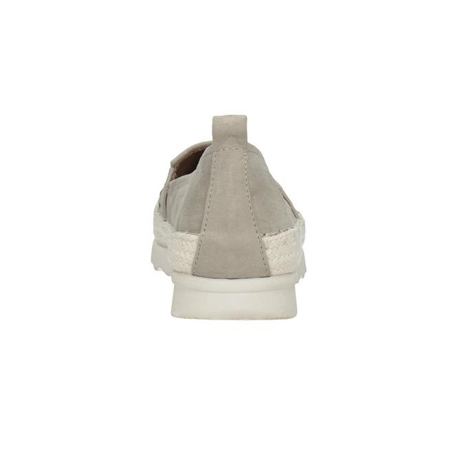 Damen-Espadrilles mit Perforation bata, Grau, 519-2606 - 16