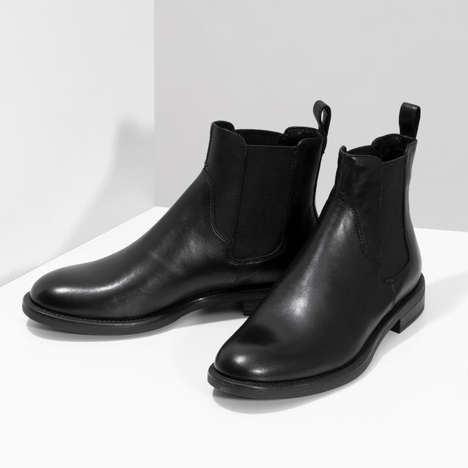 Schwarze Chelsea Boots aus Leder vagabond, Schwarz, 514-6007 - 16