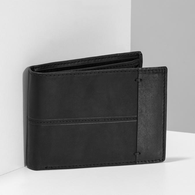 Herren-Geldbörse aus Leder bata, Schwarz, 944-6188 - 17