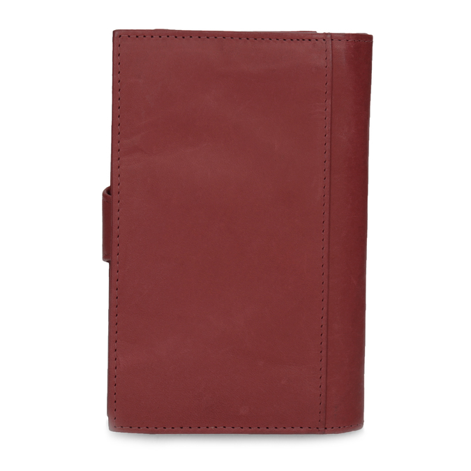 Damen-Geldbörse aus Leder bata, Rot, 944-5155 - 16